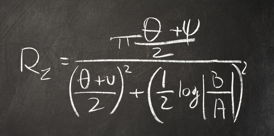 Quantum Mechanics Equation on Blackboard